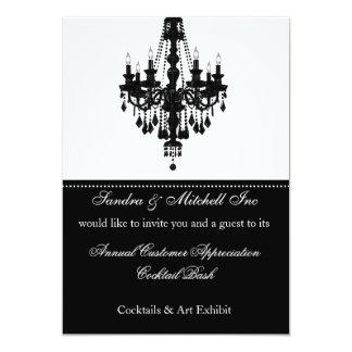 Convite de festas incorporado elegante