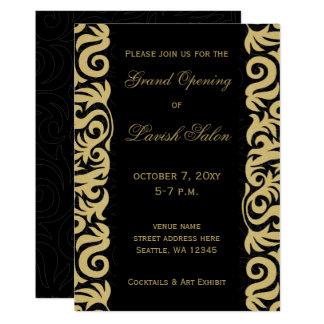 Convite de festas incorporado elegante do preto e