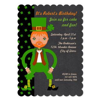 Convite de festas irlandês do aniversário de