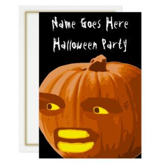 Convite de festas irritado do Dia das Bruxas da