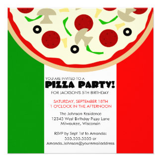 Convite de festas italiano da pizza