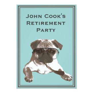Convite de festas legal da aposentadoria do Pug