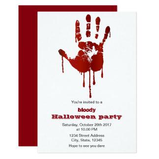 convite de festas loody do Dia das Bruxas da mão