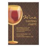 Convite de festas luminoso da degustação de vinhos