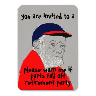 Convite de festas masculino da aposentadoria