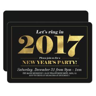 Convite de festas Matte da véspera de Ano Novo do