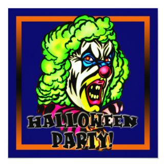 Convite de festas mau do Dia das Bruxas do palhaço