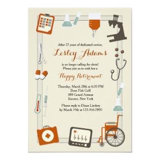 Convite de festas médico da aposentadoria do