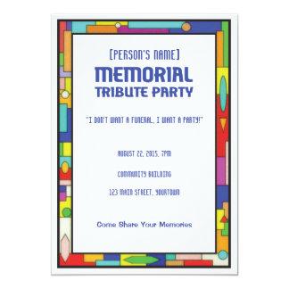 Convite de festas memorável do funeral do tributo