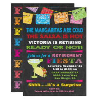 Convite de festas mexicano da aposentadoria da