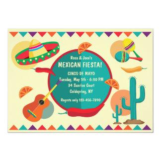 Convite de festas mexicano de Cinco de Mayo do