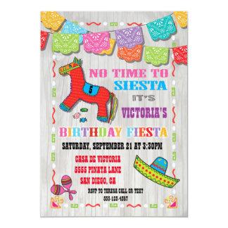 Convite de festas mexicano do aniversário de