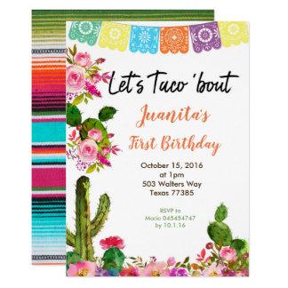 Convite de festas mexicano do primeiro aniversario