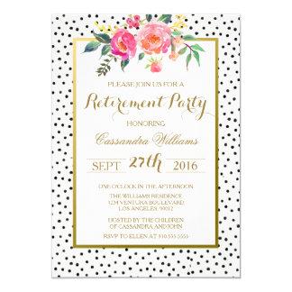 Convite de festas moderno da aposentadoria das
