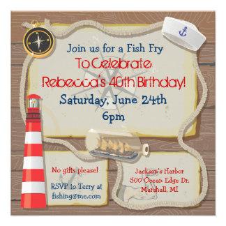 Convite de festas náutico do marinheiro