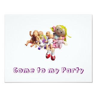 Convite de festas - nove zorras em seguido