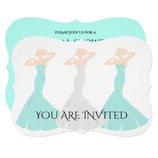 Convite de festas nupcial da dama de honra da