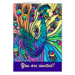 Convite de festas: O pavão mostra suas penas Cartões
