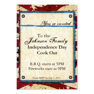 Convite de festas patriótico