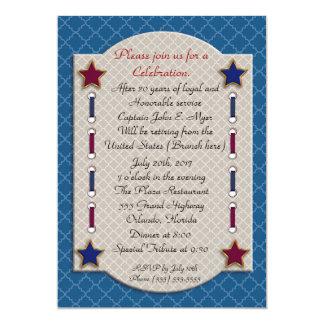 Convite de festas patriótico da aposentadoria