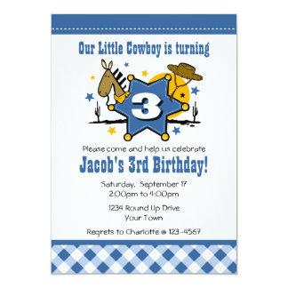 Convite de festas pequeno do aniversário de 3 anos