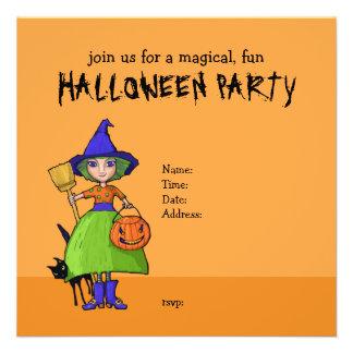 Convite de festas pequeno do Dia das Bruxas da abó