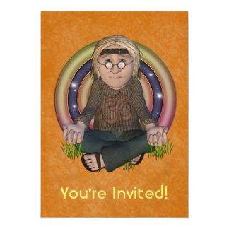 Convite de festas pequeno dos anos 60 do hippy