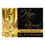 Convite de festas personalizado da aposentadoria