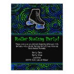Convite de festas personalizado preto da patinagem
