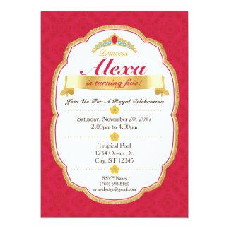 Convite de festas real da princesa Celebração