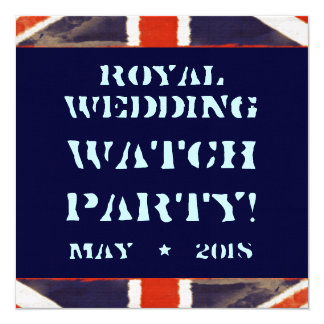 Convite de festas real do relógio do casamento do