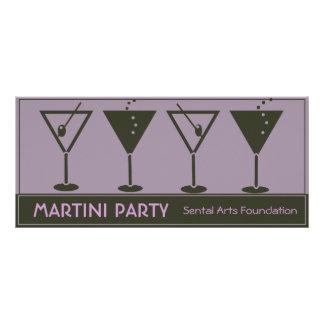 Convite de festas retro de Martini 10.16 X 22.86cm Panfleto