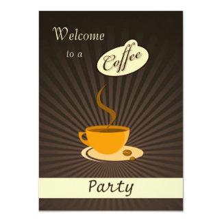 Convite de festas retro do copo de café