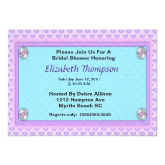 Convite de festas roxo do chá de panela