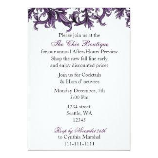 Convite de festas roxo elegante do negócio