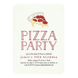 Convite de festas rústico da pizza