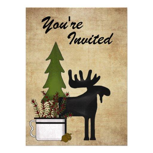 Convite de festas rústico da reunião de família do