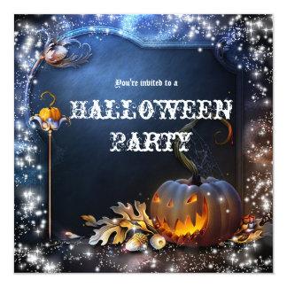 Convite de festas sinistro da mágica da abóbora do