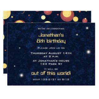 convite de festas temático do espaço dos miúdos