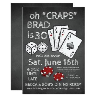 Convite de festas temático do póquer