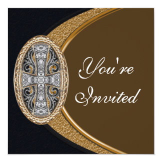 Convite de festas transversal cristão elegante