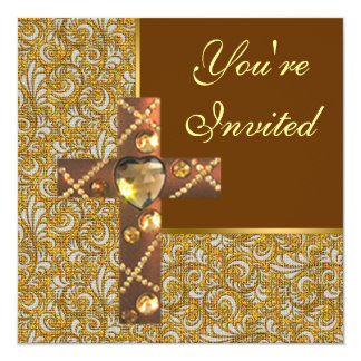 Convite de festas transversal cristão Jeweled