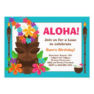 Convite de festas tropical de Luau