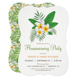 Convite de festas tropical do Housewarming do