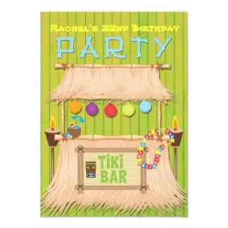 Convite de festas tropical havaiano do verão de