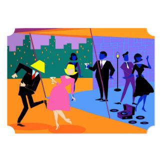Convite de festas urbano retro customizável do convite 12.7 x 17.78cm