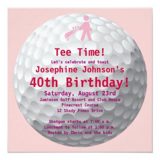 Convite de festas verde do aniversário de 40 anos