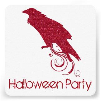 Convite de festas vermelho 2 do Dia das Bruxas do