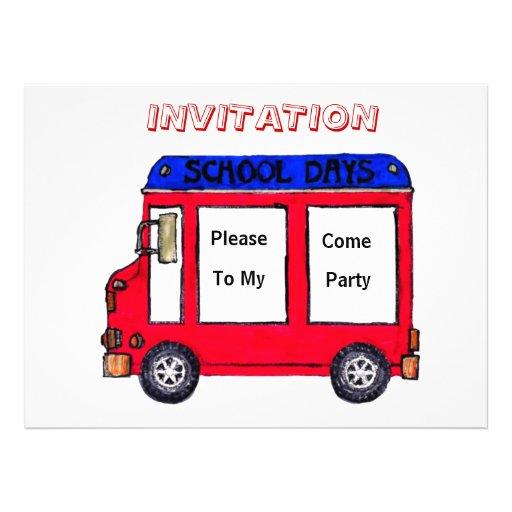 Convite de festas vermelho do auto escolar