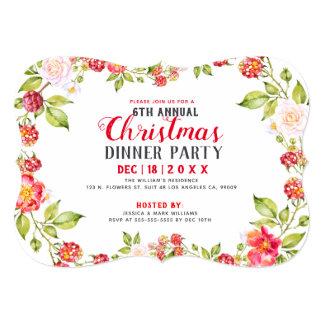 Convite de festas vermelho do comensal de Natal